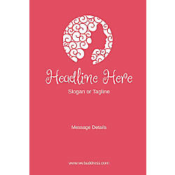 Adhesive Sign Pink Beauty Vertical