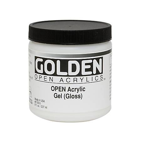 golden open acrylic mediums gel medium gloss 8 oz by office depot