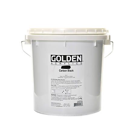 Golden Heavy Body Acrylic Paint, 128 Oz, Carbon Black