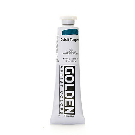 Golden Heavy Body Acrylic Paint, 2 Oz, Cobalt Turquoise
