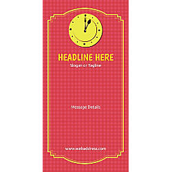 Custom Vertical Display Banner Lunch Clock