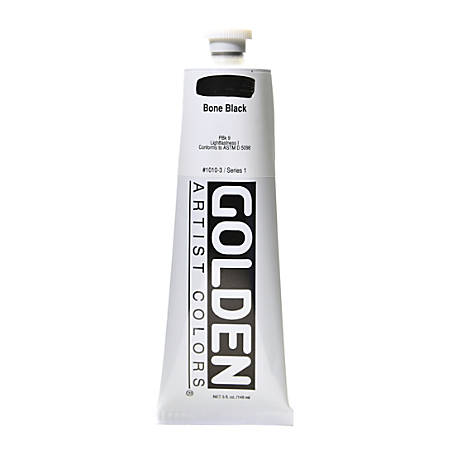 Golden Heavy Body Acrylic Paint, 5 Oz, Bone Black