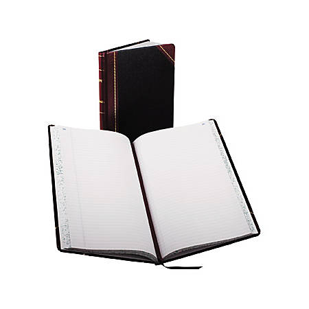"""Boorum & Pease Boorum 9 Series Record Rule Account Books - 150 Sheet(s) - Thread Sewn - 8 5/8"""" x 14 1/8"""" Sheet Size - White Sheet(s) - Red, Blue Print Color - Black, Red Cover - 1 Each"""