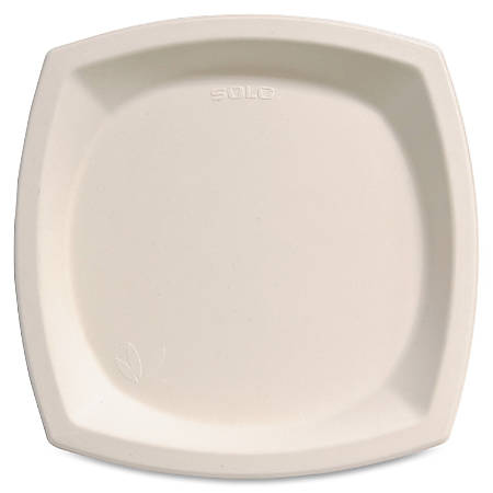 "Bare Sugarcane Plates - 10"" Diameter Plate - Sugarcane - Microwave Safe - Off White - 500 Piece(s) / Carton"
