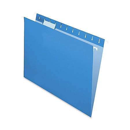 Oxford® Color 1/5-Cut Hanging Folders, Letter Size, Blue, Box Of 25