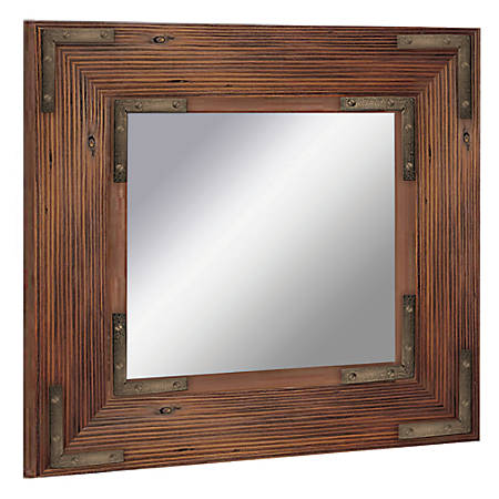 """PTM Images Framed Mirror, Bronze Accent, 20""""H x 20""""W, Black"""
