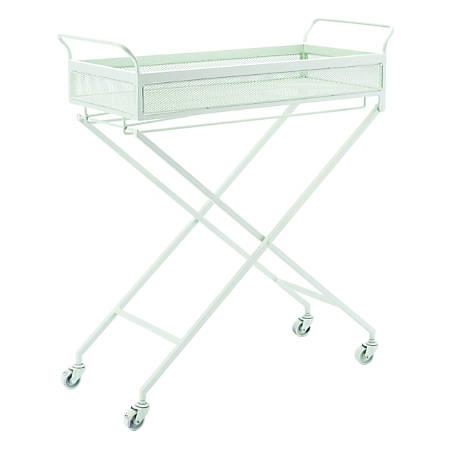 Zuo Modern Mint 1-Shelf Steel Bar Cart, Green
