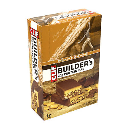 Clif Builder's Protein Bar Chocolate Peanut Butter, 2.4 oz, 12 Count