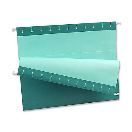 Oxford® Color 1/5-Cut Hanging Folders, Letter Size, Teal, Box Of 25