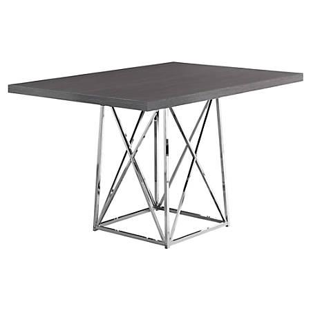 """Monarch Specialties Elizabeth Dining Table, 31""""H x 48""""W x 36""""D, Dark Gray"""