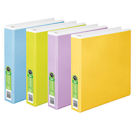 "Wilson Jones® Tinted View Binder, 1 1/2"" Rings, 49% Recycled, Assorted Colors"