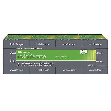 "Office Depot® Brand Invisible Tape, 3/4"" x 1,296"", Pack Of 16"