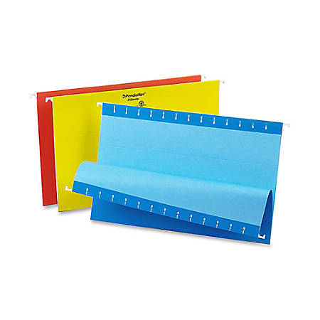 Oxford® Color 1/5-Cut Hanging Folders, Legal Size, Assorted, Box Of 25