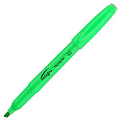 Integra Pen Style Fluorescent Highlighters Chisel
