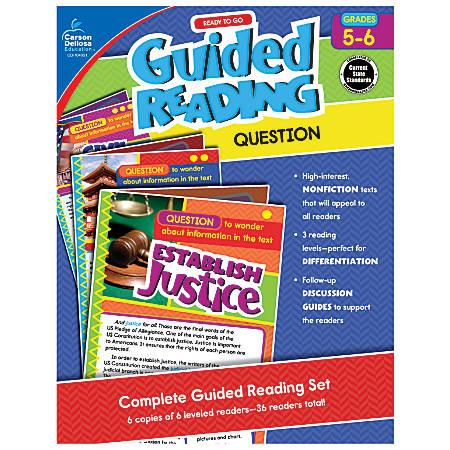 Carson-Dellosa Ready-To-Go Guided Reading, Question, Grades 5 - 6
