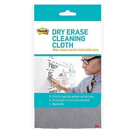 "Post-it® Dry Erase Clean Cloth, Defcloth, 10 5/8"" x 10 5/8"", Gray"