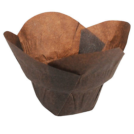 Hoffmaster Lotus Baking Cups, Small, Chocolate Brown, Case Of 2,500 Cups