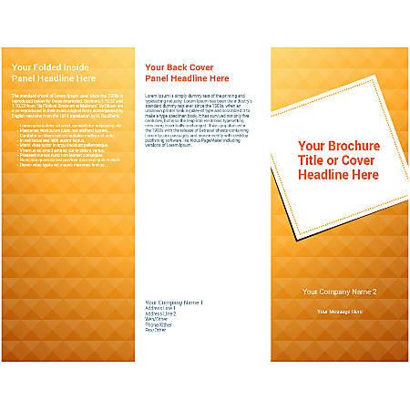 Customizable Trifold Brochure, Orange Tiles