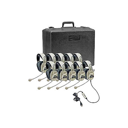Califone Classroom Ten-Pack Deluxe Stereo Headsets