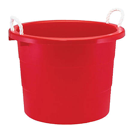 united solutions rope handle tub 19 gallon red by office depot officemax. Black Bedroom Furniture Sets. Home Design Ideas