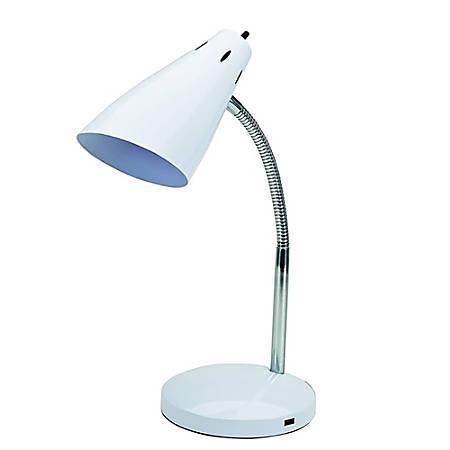 """Brenton Studio™ LED Desk Lamp With USB Port, 15""""H, White"""
