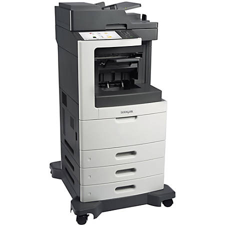 Lexmark™ MX810DTE Monochrome Laser All-In-One Printer, Copier, Scanner, Fax, Low Voltage Version