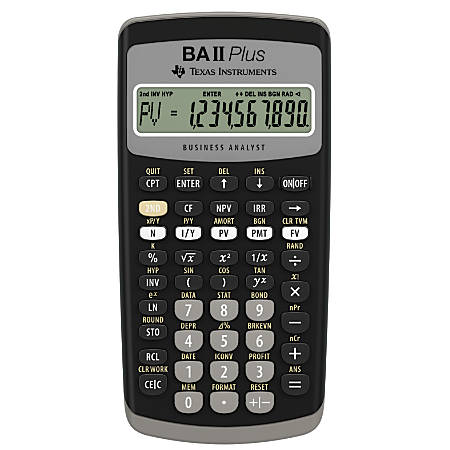 Texas Instruments® BA II Plus Financial Calculator