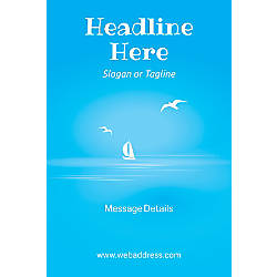 Adhesive Sign Blue Beach Vertical