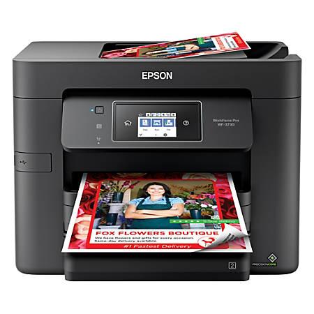 Epson® WorkForce® Pro WF-3730 Wireless Color Inkjet All-In-One Printer,  Copier, Scanner, Fax, C11CH04201 Item # 4748043