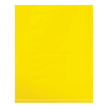 """Office Depot® Brand Flat 2-Mil Poly Bags, 12"""" x 15"""", Yellow, Case Of 1,000"""