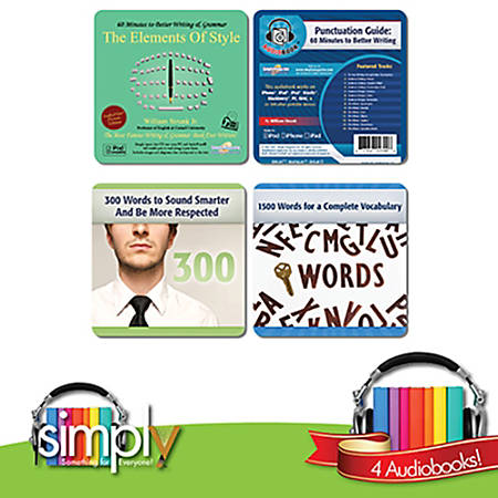 Writing and Language Audiobooks: 4 Title Collection, Download Version