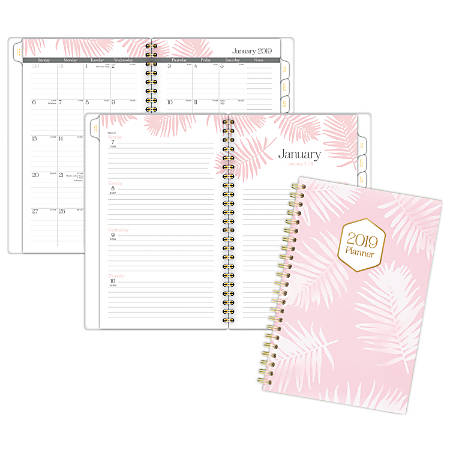 """Cambridge® Weekly/Monthly Planner, 4 7/8"""" x 8"""", Beverly, January 2019 to December 2019"""