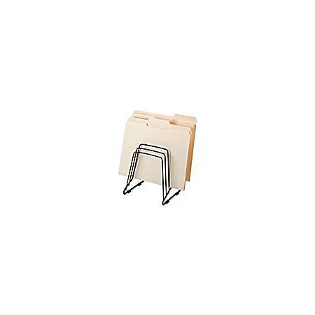 "Fellowes Wire Step File® II - 5 Compartment(s) - 8.3"" Height x 7.3"" Width x 6"" Depth - Desktop - Black - Steel - 1Each"