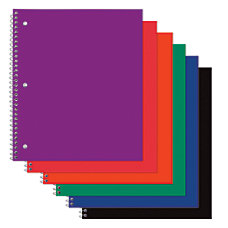 OfficeMax Poly Cover Wirebound Notebook 9