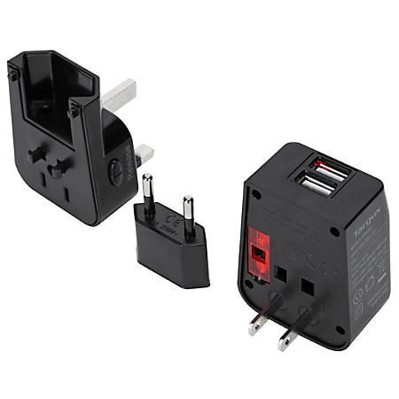 Targus® Dual USB Travel Power Adapter, APK032US
