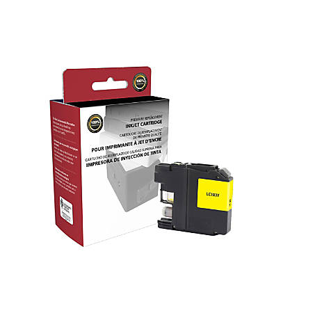 Clover Technologies Group™ High-Yield Remanufactured Ink Cartridge, Yellow, 118069 (Brother® LC103Y)