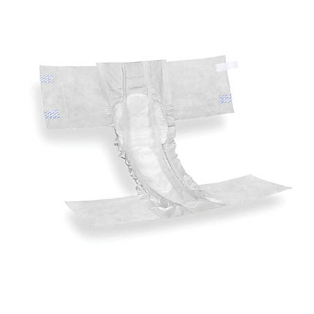 FitRight Super Disposable Briefs, Medium, Yellow, 20 Briefs Per Bag, Case Of 4 Bags