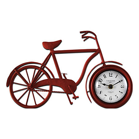 FirsTime & Co.® Bicycle Tabletop Clock, Red