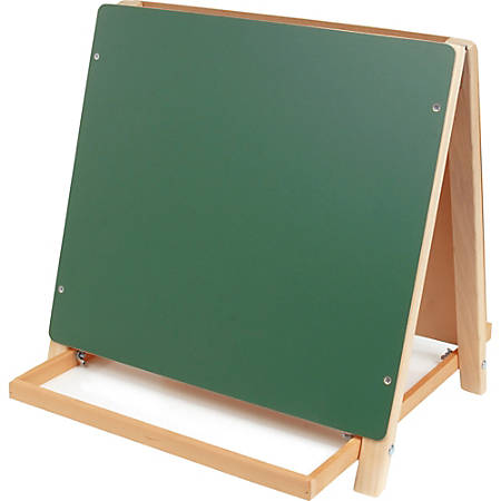 Flipside Dual Surface Table Top Easel - White/Green Surface - Rectangle - Tabletop - Assembly Required - 1 Each