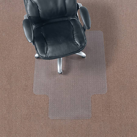 "Realspace® Economy Chair Mat For Thin Commercial-Grade Carpets, Standard Lip, 36""W x 48""D, Clear"