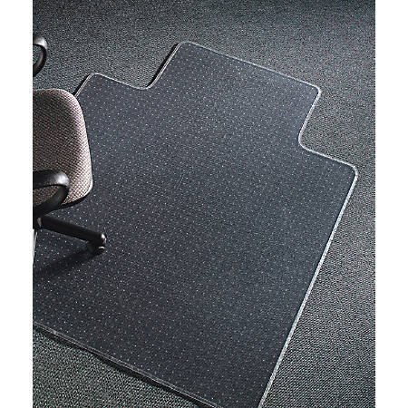 """Realspace® Advantage Chair Mat For Thin Commercial-Grade Carpets, Wide Lip, 45""""W x 53""""D, Clear"""