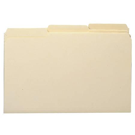 Smead® Manila File Folders, Legal Size, 1/3 Cut, 100% Recycled, Box Of 100
