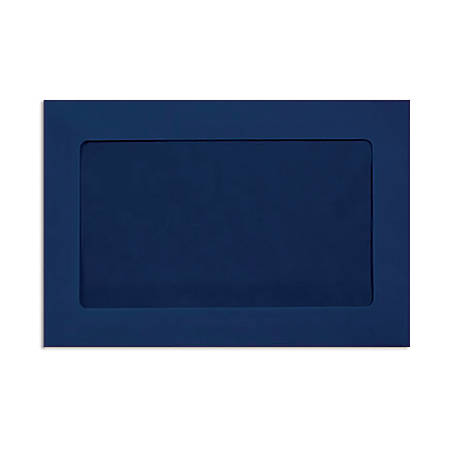 """LUX Full-Face Window Envelopes With Moisture Closure, #6 1/2, 6"""" x 9"""", Navy, Pack Of 500"""