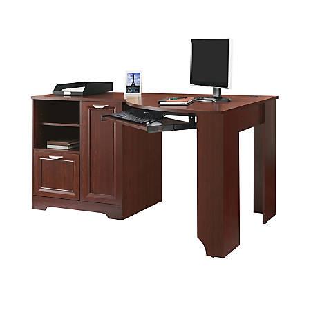 Realspace® Magellan Corner Desk, Classic Cherry