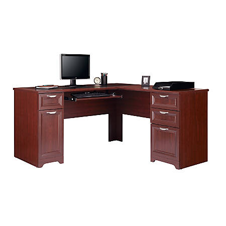 "Realspace® Magellan 59""W L-Shaped Desk, Classic Cherry"