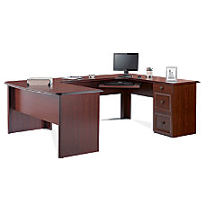 Realspace Broadstreet U Shaped Executive Desk