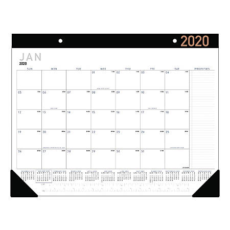 """AT-A-GLANCE® Contemporary Monthly Desk Pad, 22"""" x 17"""", January To December 2020, SK24X00"""