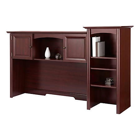 Realspace® Broadstreet Hutch With Doors, Cherry