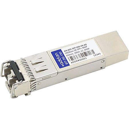AddOn Aerohive AH-ACC-SFP-10G-SR Compatible TAA Compliant 10GBase-SR SFP+ Transceiver (MMF, 850nm, 300m, LC, DOM)