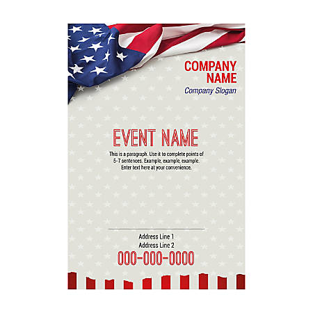 Custom Flyers, Realistic Flag, Vertical